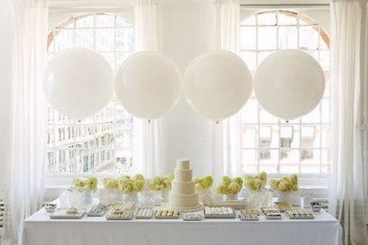 "Picture of Huge Giant White Balloons up to 36"" Wedding"