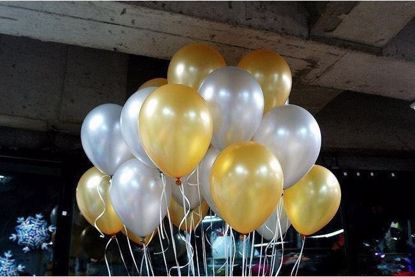 """Picture of Wedding Gold Latex Balloons Ceiling Balloons 11"""""""