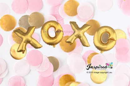 Picture of XO XO Letters 16 Inch 40 cm Foil Balloons Wedding Christmas