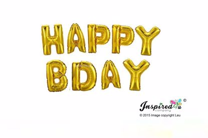 Picture of HAPPY BDAY Letters 16 Inch 40 cm Foil Balloons Party Birthday