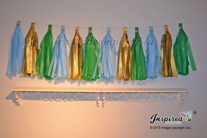 Picture of DIY Baby Shower Christening Tissue Tassel Paper Garland