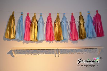 Picture of DIY Tissue Paper Tassel Birthday Wedding Baby Shower