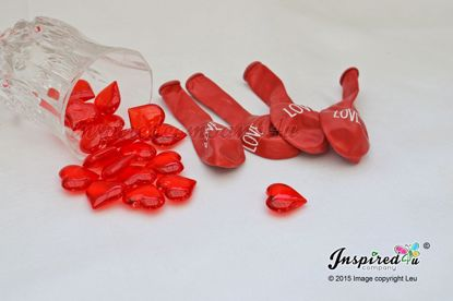 Picture of Valentine's Balloons Set Hearts Gems Table Set Up  Love