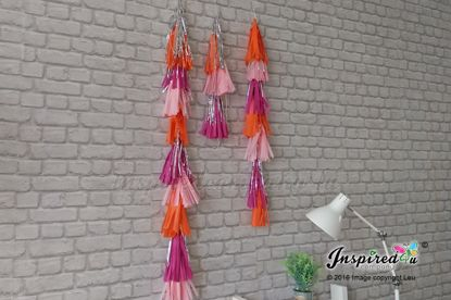 Picture of 3 Tail Balloon Tassels Tissue Paper