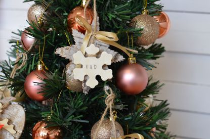 Picture of Personalized Christmas Tree Hanging Decorations Wooden Craft Snowflake