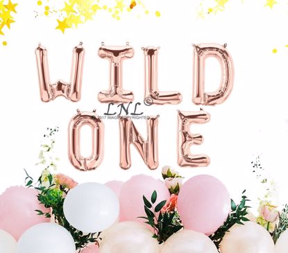 Picture of Rose Gold Balloons Wild One Birthday