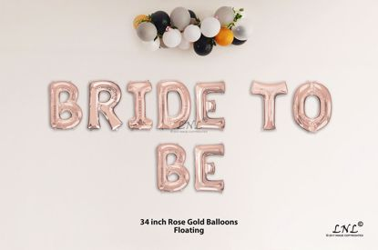Picture of BRIDE TO BE  Rose Gold Letters 34 Inch Foil Balloons