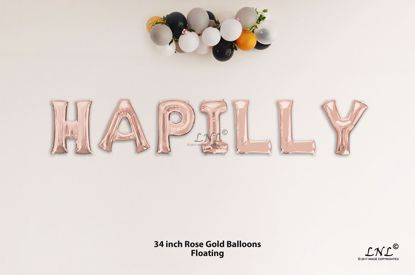 Picture of WAPILLY Rose Gold Letters 34 Inch Foil Balloons
