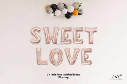 Picture of SWEET LOVE Rose Gold Letters 34 Inch Foil Balloons