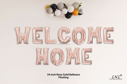 Picture of WELKOME HOME Rose Gold Letters 34 Inch Foil Balloons