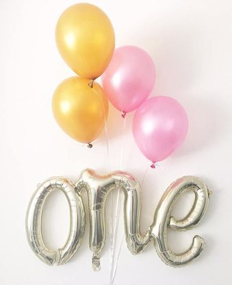 Picture of One Script Balloon 1st Birthday