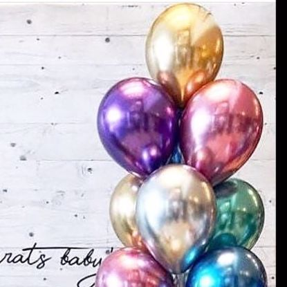"Picture of Chrome Balloons up to 11"" Engaged Wedding Photography"