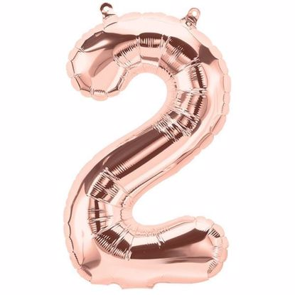 Picture of ROSE GOLD BALLOONS NUMBER 2 / 40 in HELIUM