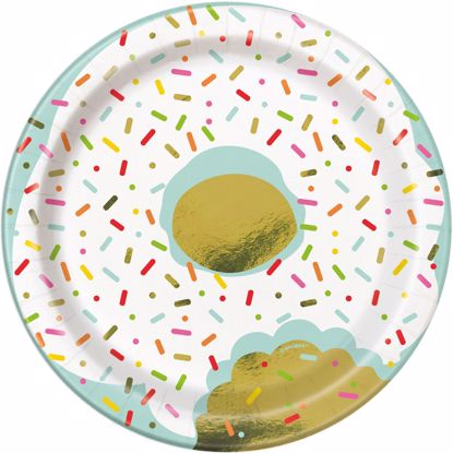 Picture of Donuts Sprinkle Lunch Plates 7""
