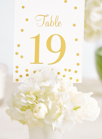 Picture of Gold Table Number Cards 1-20