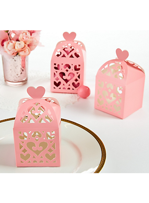 Picture of Wedding Favors Box Pink Lantern