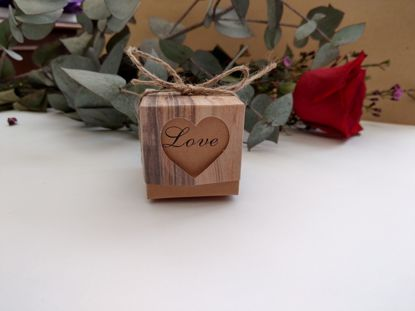 Picture of Rustic Wedding Favor Boxes Love Heart