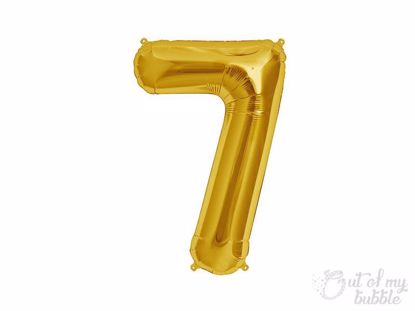 Gold foil balloon number 7