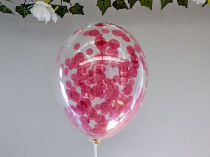 Picture of Burgundy Confetti Balloons Ceiling Bouquet