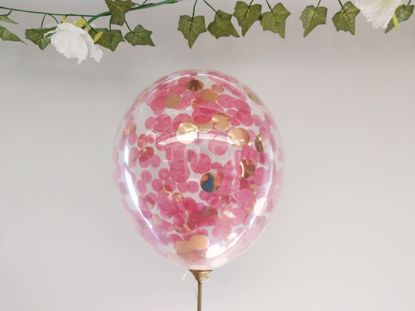 Picture of Burgundy Confetti Rose Gold Balloons Ceiling Hen