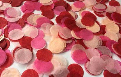 Picture of Tissue Paper Confetti Balloons Peach Cream Red