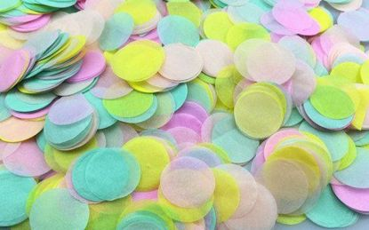 Picture of Tissue Paper Confetti Balloons Ice Cream Mint Yellow