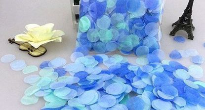 Picture of Tissue Paper Confetti Balloons Turquoise Blue
