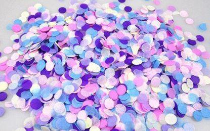 Picture of Unicorn Pastel Tissue Paper Confetti Balloons Pink Purple Silver Blue