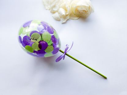 Picture of Cake topper Balloon Confetti Royal Purple Green