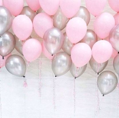 Picture of Silver Pink Balloons Ceiling