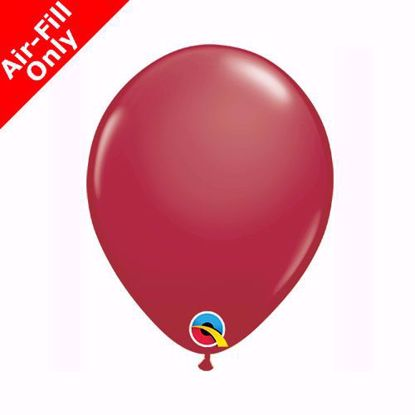"Picture of 5"" BURGUNDY SOLID COLOUR LATEX MINI BALLOONS (50)"