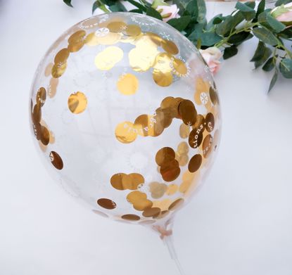 Picture of Congratulations Rose Gold Silver Confetti