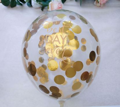 Picture of Best Day Ever Clear Confetti Balloons