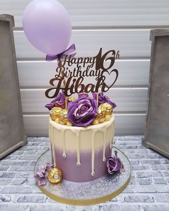 Picture of Balloon Cake Topper Lavender
