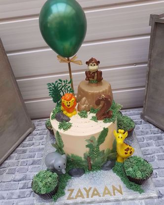 Picture of Balloon Cake Topper Forest Green