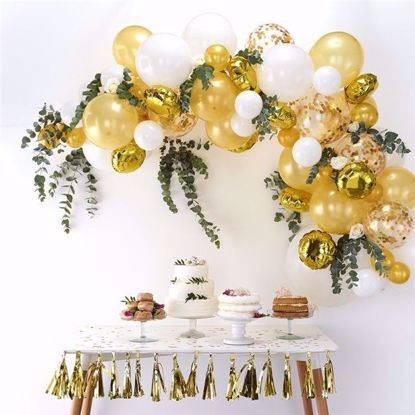 Picture of Gold Balloon Garland Arch - 70 Balloons