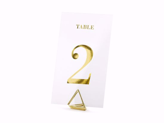 Picture of Transparent Wedding Table Number Gold  Centrepieces