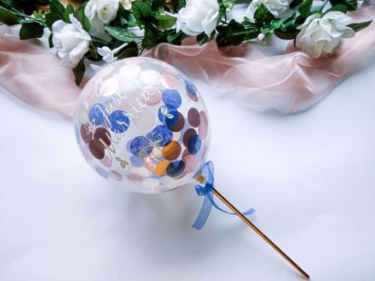 Picture of Balloon Cake Topper Confetti Just Married
