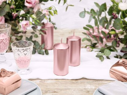 Picture of Rose Gold Candles Pillar