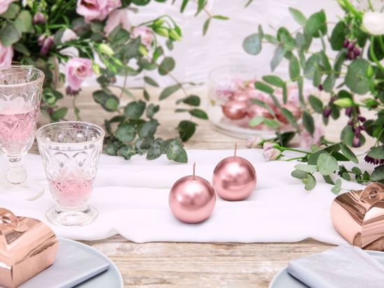 Picture of Rose Gold Candles Sphere 6 cm