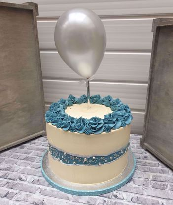 Picture of Balloon Cake topper Silver