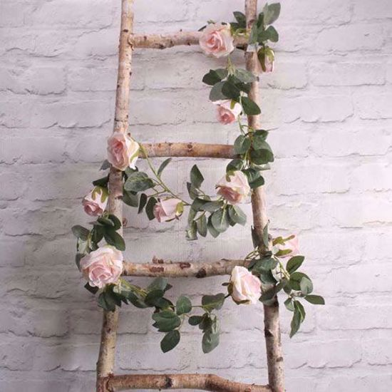 Picture of LIGHT PINK ROSE GARLAND FLOWER TAIL