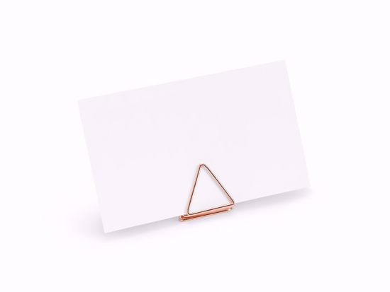 Picture of ROSE GOLD PLACE CARD HOLDER WEDDING DECORATIONS - TRIANGLE
