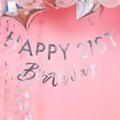Picture of IRIDESCENT CUSTOMISABLE BIRTHDAY MILESTONE BUNTING - STARGAZER