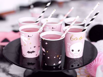 Picture of 6 Paper cups Boo!, mix, Halloween Table Decorations