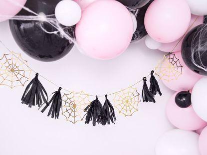 Picture of Paper Garland Spiderwebs Fiesta de Los Muertos Halloween Decorations Kids Party