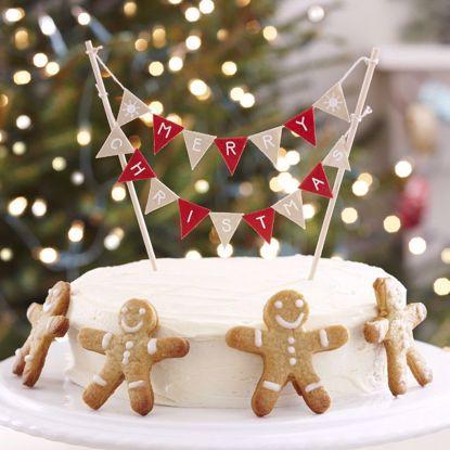 Picture of CHRISTMAS CAKE BUNTING - VINTAGE NOEL