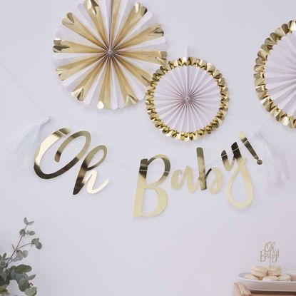 Picture of Oh Baby Shower Bunting Garland