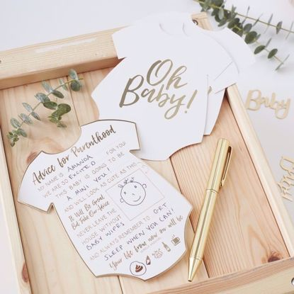 Picture of Oh Baby Shower Advice Cards Parents To Be