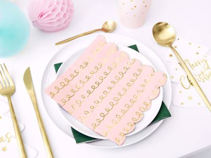 Picture of Blush Pink Gold Paper Napkins